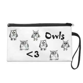 Owls Wristlet Purse