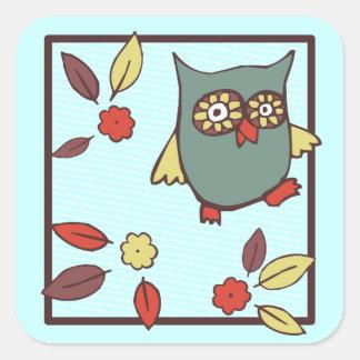 Owlsie Dances Square Stickers