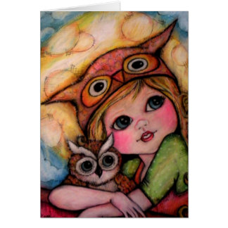 Owlsome Fun - Big Eyes And Moonbeams Cards