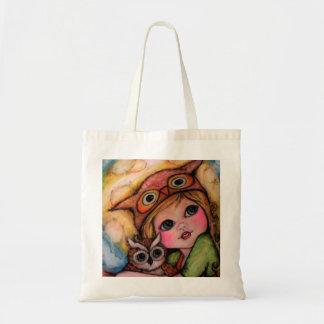 Owlsome Fun - Big Eyes And Moonbeams Tote Bag