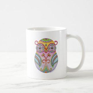 'Owlushka' Amethyst Classic White Coffee Mug