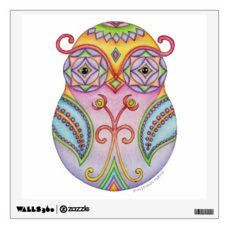 Owlushka 'Amethyst' Wall Decal