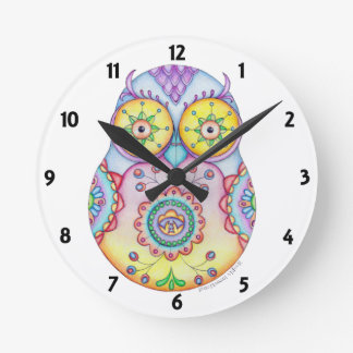 Owlushka Bright Eyes Clock