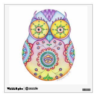 Owlushka 'Bright Eyes' Wall Decal