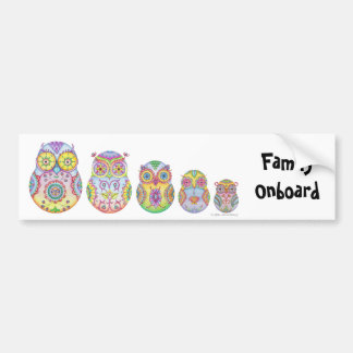 'Owlushka' Family Bumper Sticker