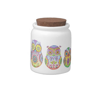 'Owlushka' Family Cookie Jar Canister Candy Dish