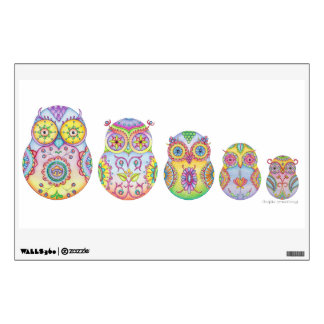 'Owlushka' Family Wall Decal