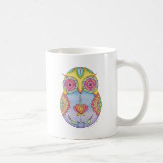 'Owlushka' Rosy Classic White Coffee Mug