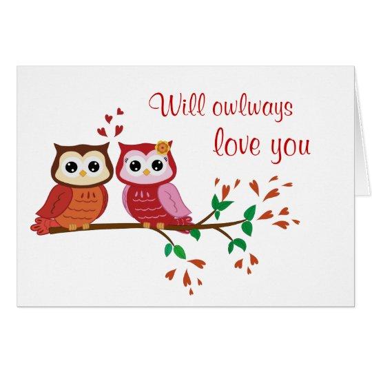 Owlways love you postcard