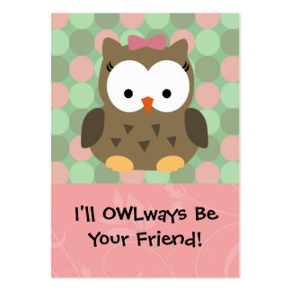 OWLways seré su amigo Tarjetas De Visita Grandes