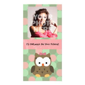 OWLways seré su amigo Tarjetas Personales Con Fotos