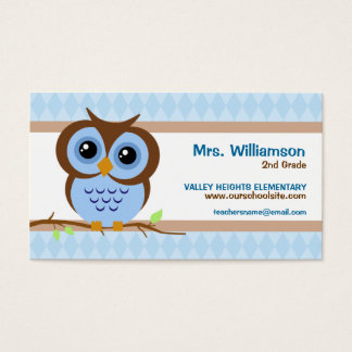 Owl For Teachers Business Cards & Templates | Zazzle