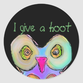 owly, I give a hoot Classic Round Sticker