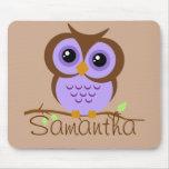 Owly Mousepad personalizado púrpura