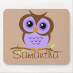 Owly Mousepad personalizado púrpura Alfombrillas De Raton