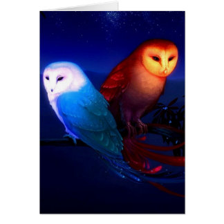 Owly note card