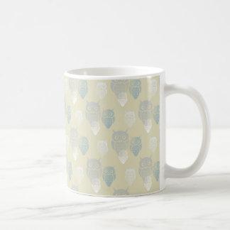 Owly Pattern light Coffee Mug