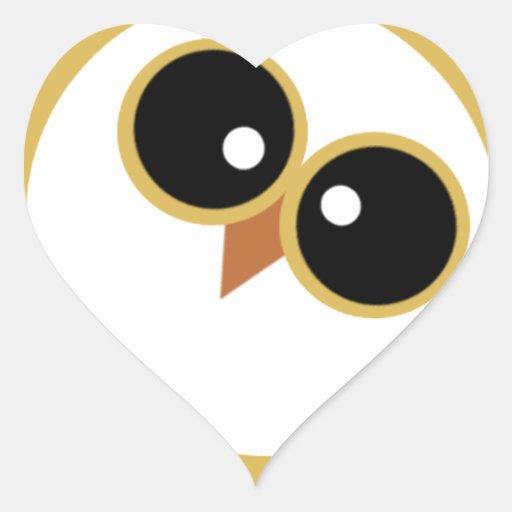 Owly Pegatina De Corazon Personalizadas