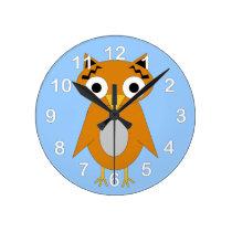 Owly The Owl Round Clock