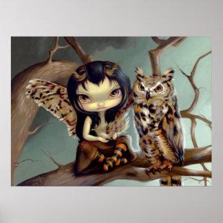 Owlyn ART PRINT owl fairy fantasy