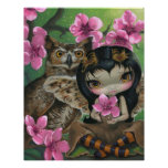 Owlyn en la primavera de la hada del búho de la IM Posters