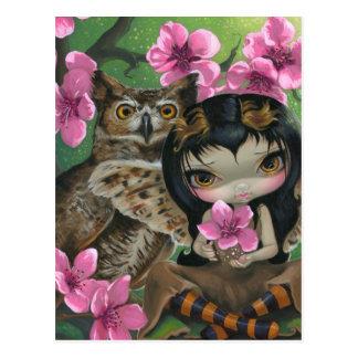 Owlyn en postal de la primavera