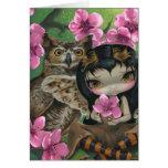 """""""Owlyn en tarjeta de felicitación de la primavera"""""""