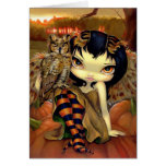 """""""Owlyn en tarjeta de felicitación del otoño"""""""