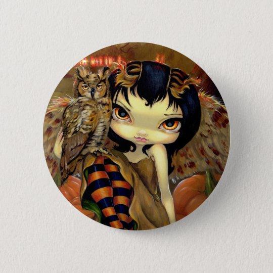 """""""Owlyn in Autumn"""" Button"""