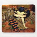 """""""Owlyn in Autumn"""" Mousepad"""