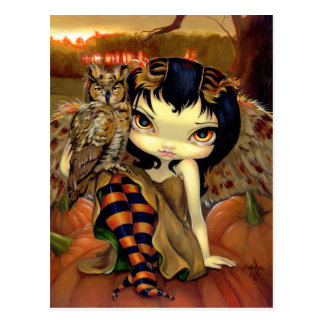 """Owlyn in Autumn"" Postcard"
