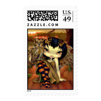 """""""Owlyn in Autumn"""" Stamp"""