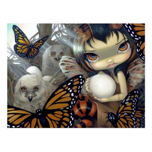 """Owlyn in the Nest"" Postcard"