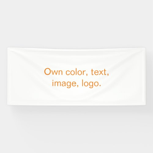 Own Banner uni White - own Color