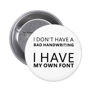 Own Font 2 Inch Round Button