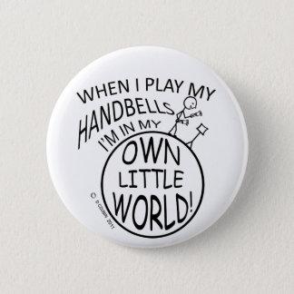 Own Little World Handbells Pinback Button