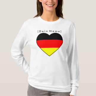 Own name football Germany sweater heart