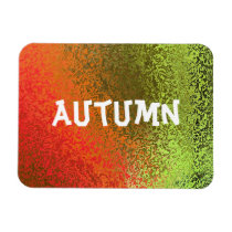 Own Name Shades of Orange & Green Premium Magnet