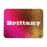Own Name Shades of Pink & Gold Premium Magnet