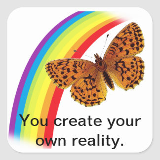 Own Reality Square Sticker