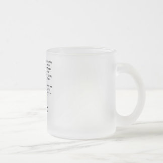 Own The Moment Referee Frosted Glass Mugs