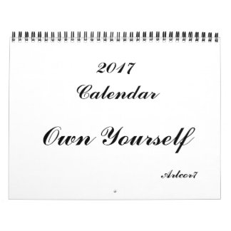 Own Yourself 2017 Calendar Standard Two Page