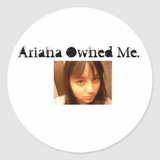 ownage classic round sticker