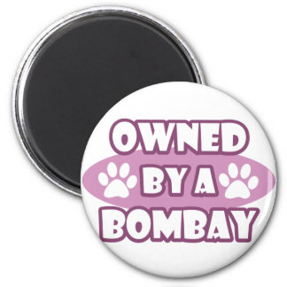 Owned by a Bombay 2 Inch Round Magnet