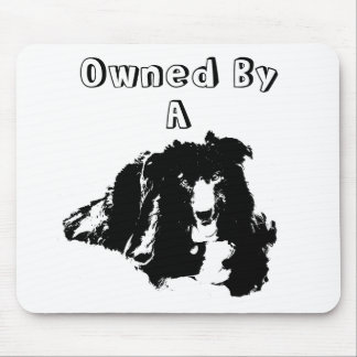 Owned By A Border Collie Funny Dog Mousepad
