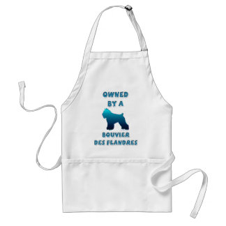 Owned by a Bouvier des Flandres Adult Apron