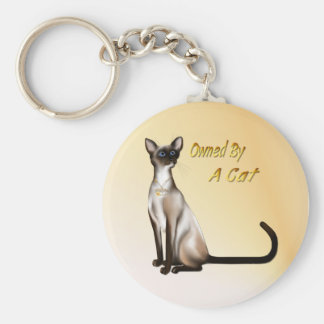Owned By A Cat Keychain