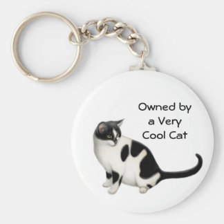 Owned by a Cool Cat Keychain