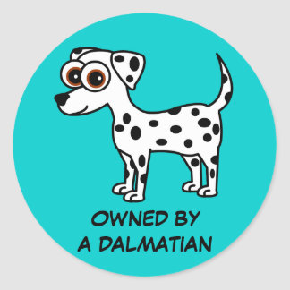 Owned by a Dalmatian Stickers