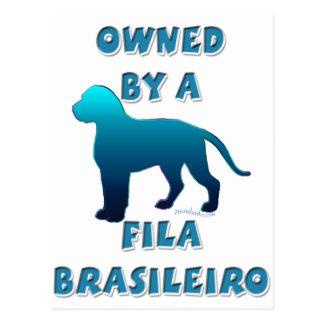 Owned by a Fila Brasileiro Postcard